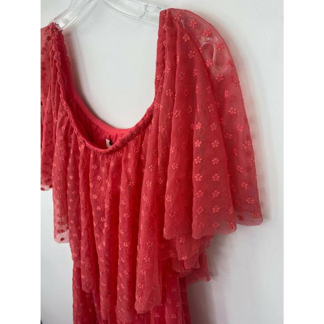LIKELY Red Blaine Flamingo Embroidered Ruffle Off The Shoulder Short Casual Dress Size 4 (S) LIKELY Red Blaine Flamingo Embroidered Ruffle Off The Shoulder Short Casual Dress Size 4 (S) Image 7