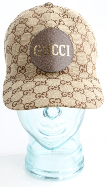 Item - Brown Gg Canvas Baseball Hat Men's Jewelry/Accessory