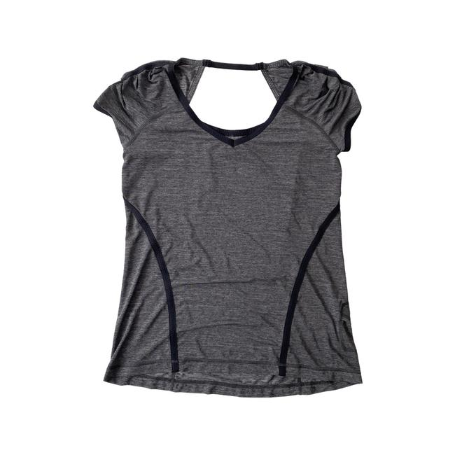Item - Gray Open Back Activewear Top Size 10 (M)