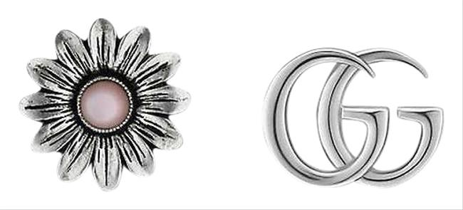 Item - Silver Marmont Double G 925 Sterling-silver and Mother-of-pearl Stud Earrings