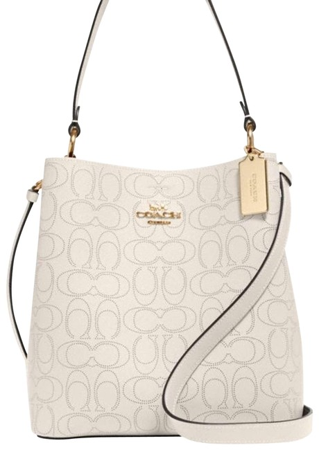 Item - Bucket New Large Town Signature White Leather Shoulder Bag