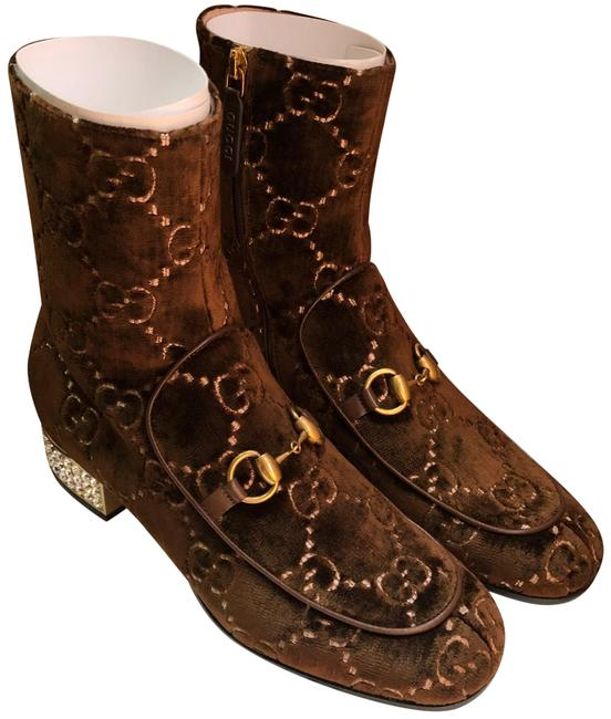 Item - Brown Ankle with Crystal Heels Boots/Booties Size EU 39 (Approx. US 9) Regular (M, B)