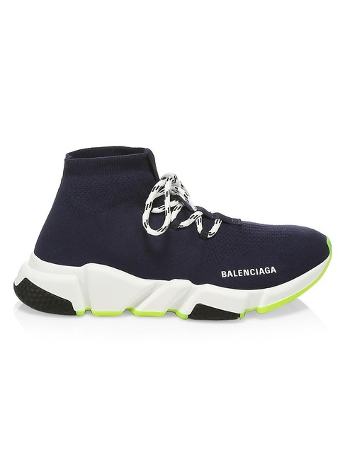 Item - Navy Speed Lace-up Sneakers Size EU 41 (Approx. US 11) Regular (M, B)