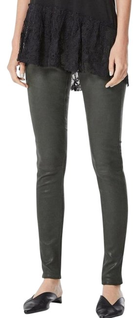 Item - Climbing Ivy Coated Vintage Leatherette Suede Faux Leather Pants Skinny Jeans Size 25 (2, XS)