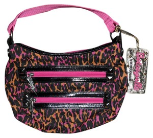 Betseyville Betsey Johnson Cheetah Punk Neon Studded Leopard Animal Print Print Hobo Bag