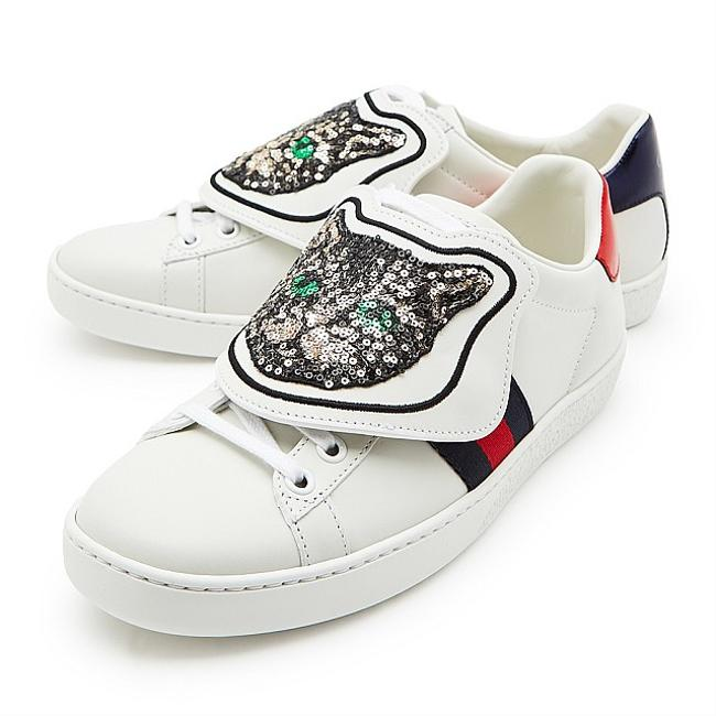 Item - White Low Ace Patch Sneakers Size EU 36 (Approx. US 6) Regular (M, B)
