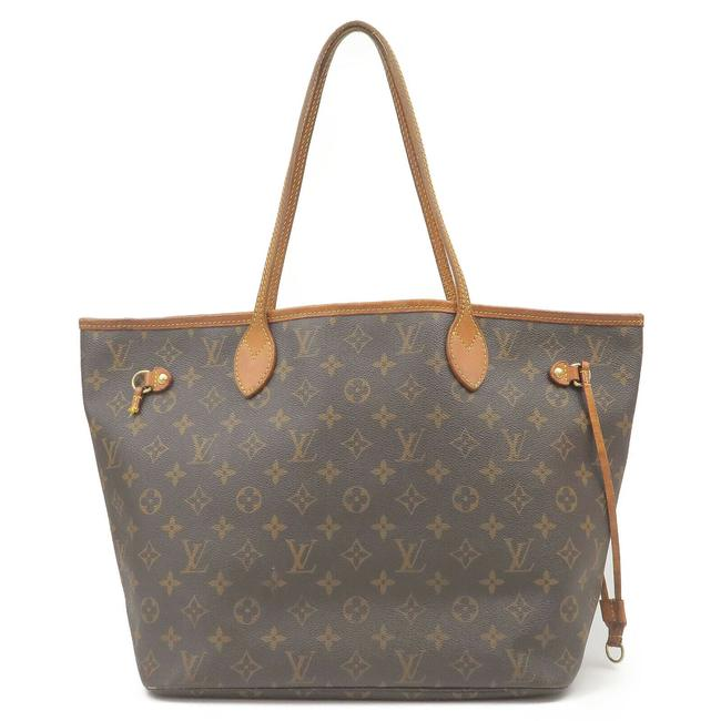 Item - Neverfull New Mm with Beige Lining Brown Monogram Canvas and Calfskin Tote