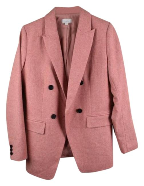 Item - Pink New Wool Longline Double Breasted Coat Size 6 (S)