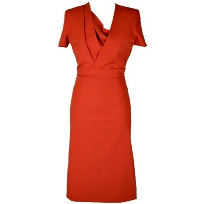 Item - Red Arya Formal Stretch Mid-length Cocktail Dress Size 8 (M)