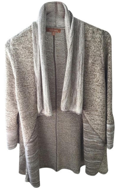 Preload https://item3.tradesy.com/images/ellen-tracy-ivory-beige-brown-and-metallic-gold-knit-cardigan-size-10-m-2948482-0-0.jpg?width=400&height=650