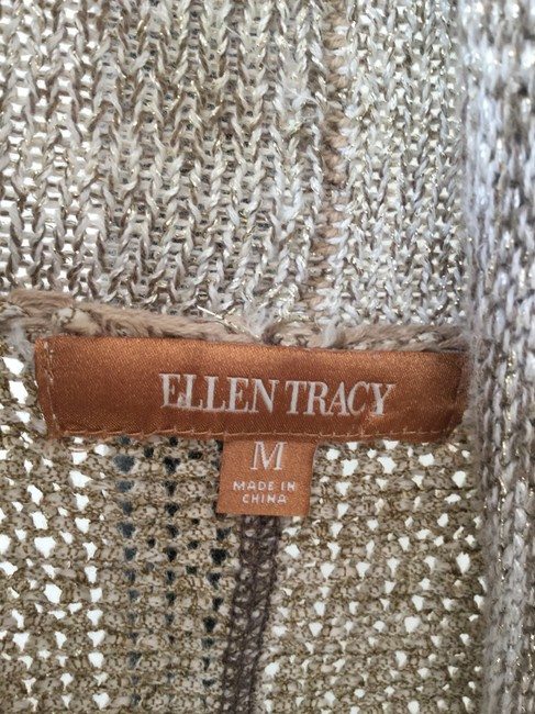 Ellen Tracy Draped Feminine Day/Night All Seasons Versatile Sweater Cardigan Image 4
