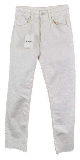 Item - Cream Light Wash The Tomcat Ankle Crop Raw Hem High Rise In Puffs Relaxed Fit Jeans Size 23 (00, XXS)