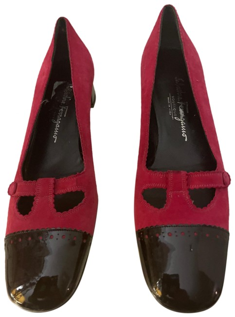 Item - Magenta Suede with Black Trim Mary Jane Slip On Pumps Size US 9 Narrow (Aa, N)