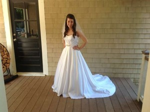 David's Bridal Simple But Elegant Wedding Dress
