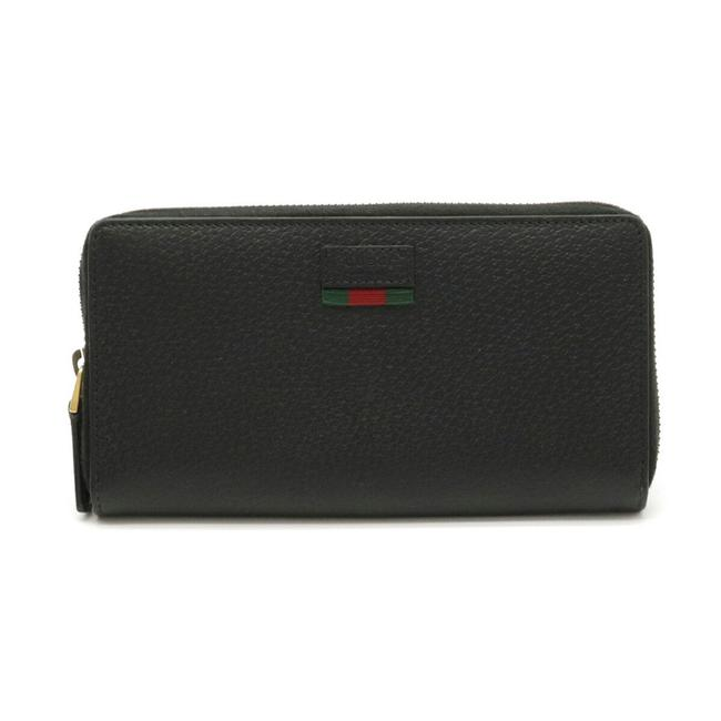 Item - Black / Green / Red Color Agora Dollar Sherry Line Round Dollar Calf Leather 435298 Wallet