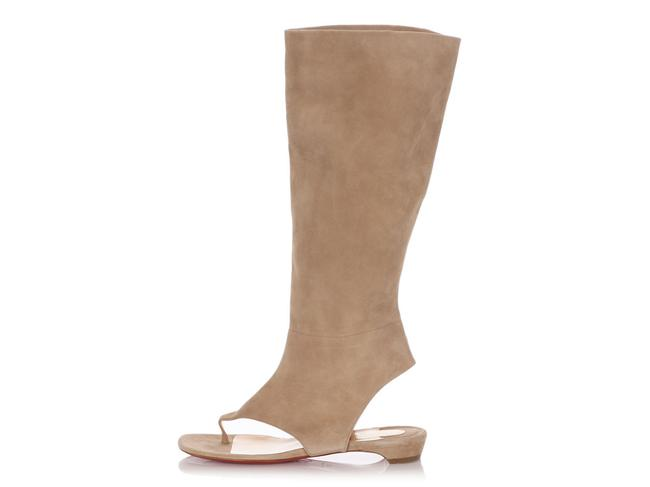 Item - Beige Suede From Sand Flat Boots/Booties Size EU 39 (Approx. US 9) Regular (M, B)