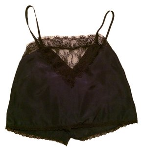 Pins and Needles Lace Trim Romantic Crop Top Navy