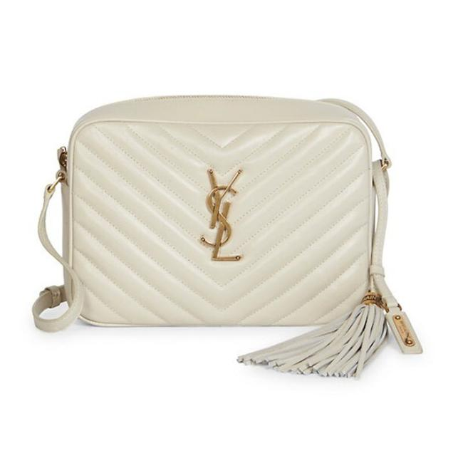 Item - Monogram Lou Shoulder New Quilted Camera Cream White Leather Cross Body Bag