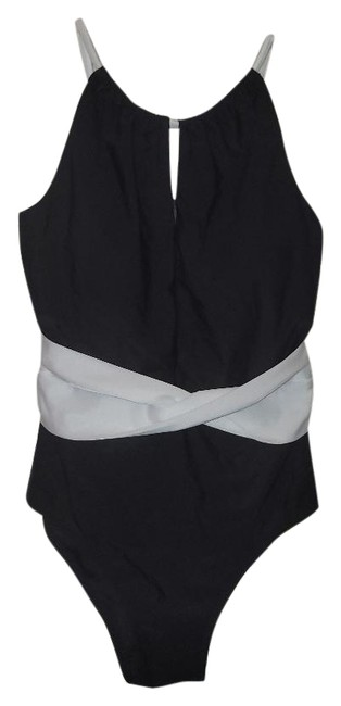 Item - Black New High-neck Plunge Swimsuit One-piece Bathing Suit Size 6 (S)