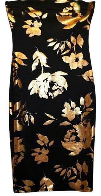 Item - Gold Ladies Night Out Dress Size OS (one size)