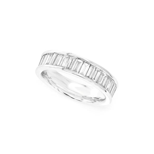 Item - 14k White Gold 1.55ctw Channel Set Baguette Band Ring