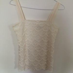 Ann Taylor Top Beige, Off white