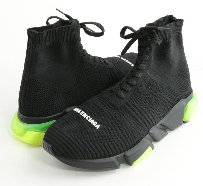 Item - Black Speed Lace-up Sneakers Shoes