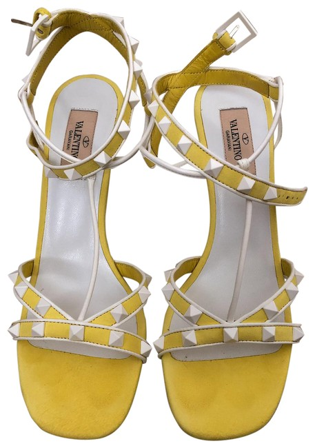 Item - Yellow/White 000 Suede Sandals Size EU 38.5 (Approx. US 8.5) Regular (M, B)