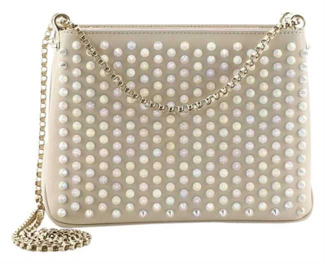 Item - Chain Triloubi Spiked Small Neutral Leather Cross Body Bag