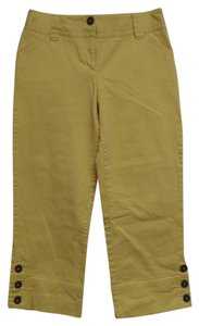 Charter Club Cropped Pants Capris Yellow