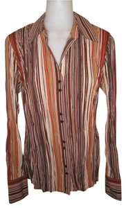 dressbarn Button Down Shirt Multi-colored