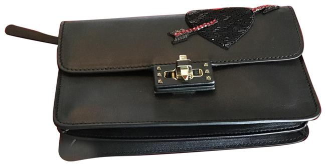 Item - With Heart and Bow Black Leather Clutch