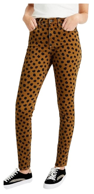 Item - Gold In Painted Spots Skinny Jeans Size 30 (6, M)