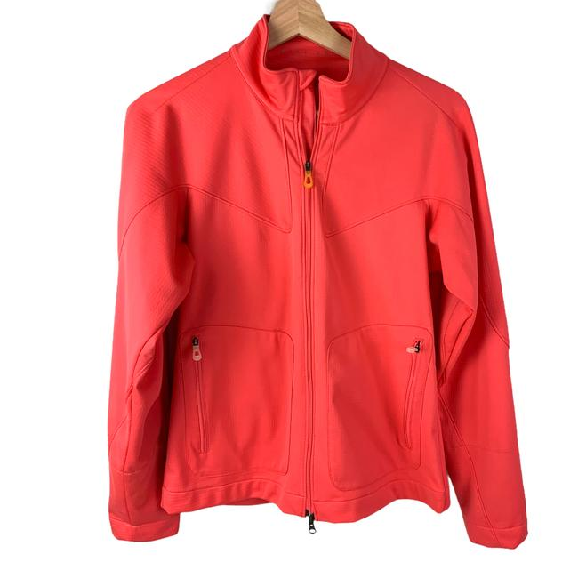 Item - Pink Golf Fit Storm Lightweight Zip Up Coral S 4-6 Activewear Outerwear Size 4 (S)