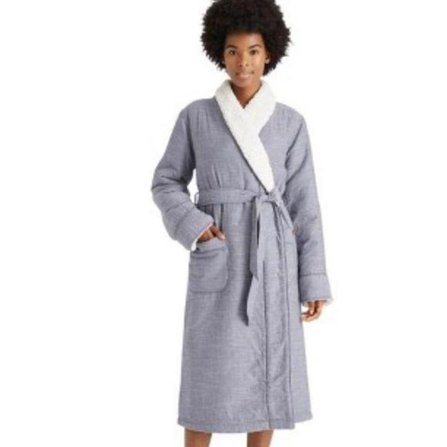 Item - Blue White Striped Woven Robe Activewear Size 8 (M)