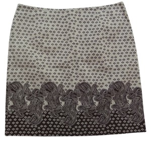 Geoffrey Beene Skirt Beige & Brown