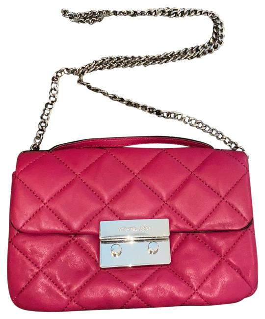 Item - Sloan Quilted Deep Pink Leather Cross Body Bag