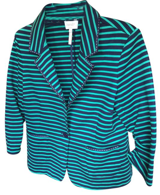 Laundry by Shelli Segal Designer Superior Construction Eye Candy Green & Black with White Stitching Jacket
