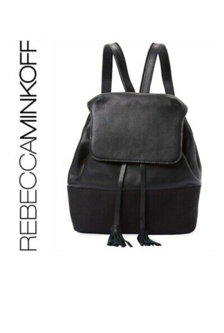 Item - Mansfield Black Brown/Black Leather and Canvas Backpack