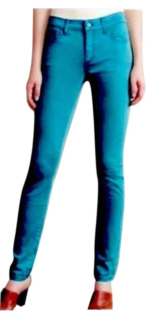 Item - Pilcro and The Letterpress Blue Dark Rinse Teal Stet Skinny Jeans Size 26 (2, XS)