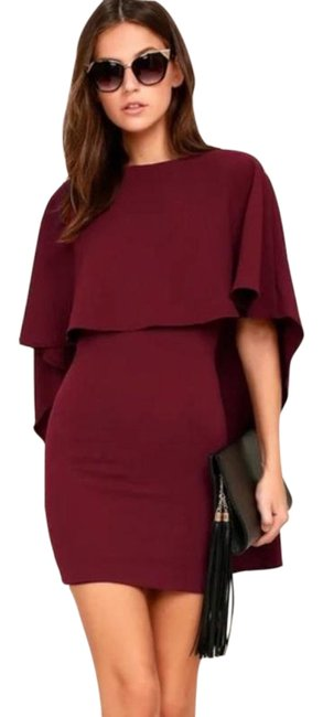 Item - Red Purple Is Yet To Come Cocktail Dress Size 8 (M)