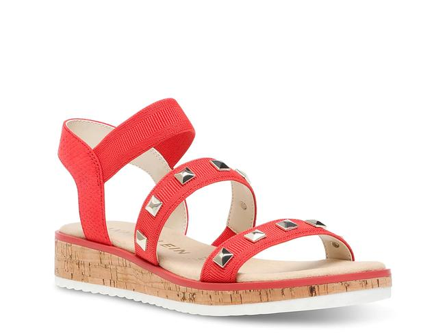 Item - Tomato Red Marcelina Strappy Studded Wedge Sandals Size US 8 Regular (M, B)