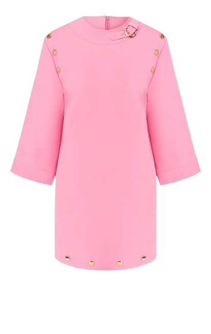 Item - Pink Candy Button Shift Tunic Short Casual Dress Size 2 (XS)