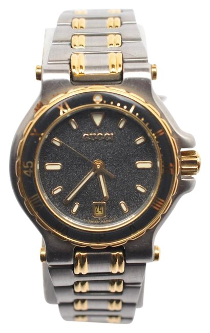 Item - Gold & Steel Vtg Women's 9700l Two Tone Stainless Diver Bezel Watch