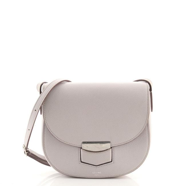 Item - Trotteur Small Gray Leather Cross Body Bag