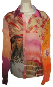 Antilia Femme Button Down Shirt Multi-colored