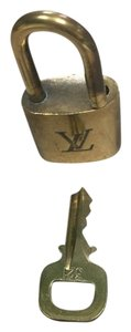 Louis Vuitton LOUIS VUITTON LOCK AND KEY MADE IN FRANCE LUGGAGE PADLOCK #321 SECURITY LOCK KEY