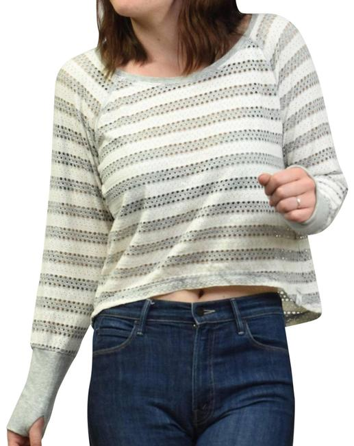 Item - Gray Perforated Crop Athletic S/M Blouse Size 6 (S)