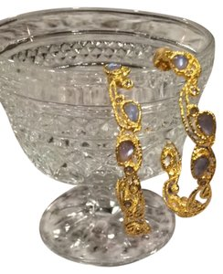 Alexis Bittar Alexis Bittar Mauritius Gold Lace Hoop Earrings