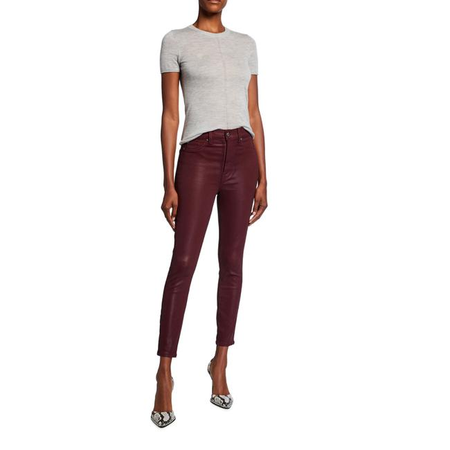 Item - Red High-waist Ankle Coated Skinny Jeans Size 23 (00, XXS)
